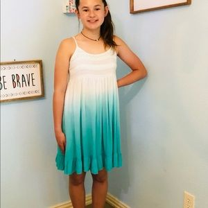 NWT-Ombré Aqua Blue Dress